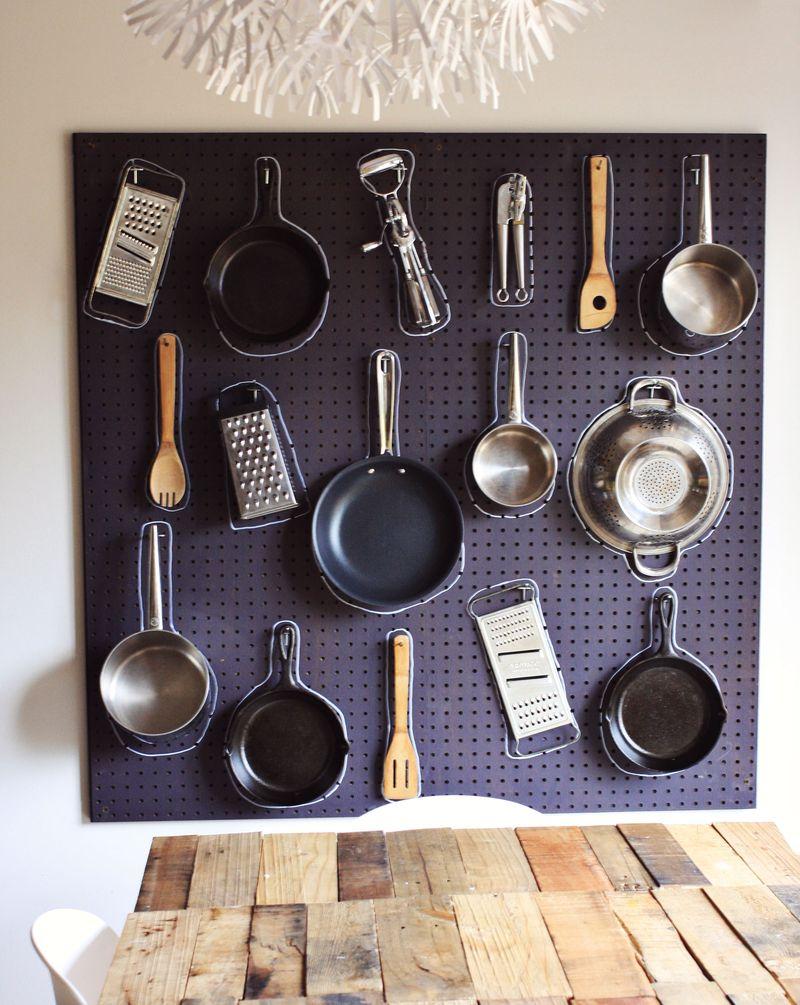 Diy Kitchen Pegboard A Beautiful Mess
