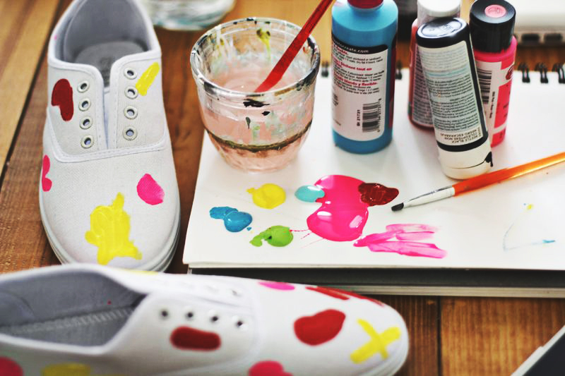 Abstract painting sneakers!