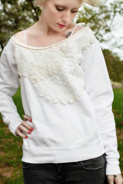 Doily Sweatshirt ReStyle