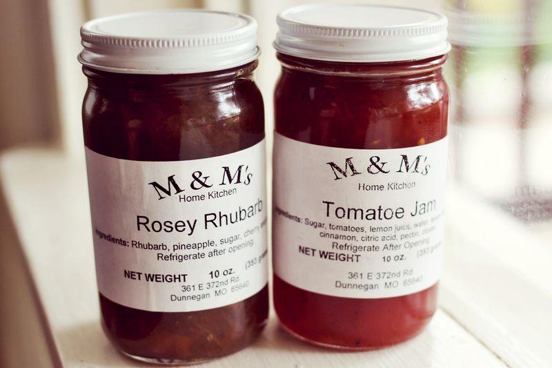 Rosey Rhubarb and Tomatoe Jam