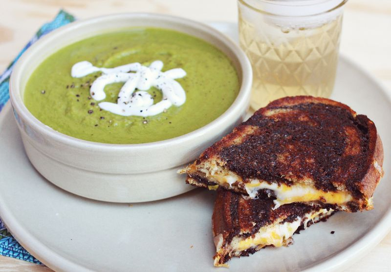 Soup and sandwich pairing
