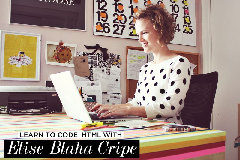 Learn To Code HTML with Elise Blaha Cripe in the new Blog (Design) Love E-Course