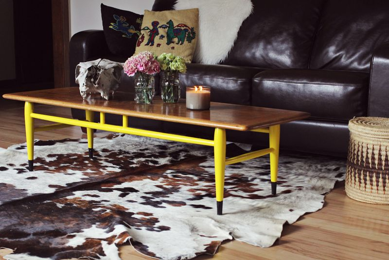 Yellow coffee table