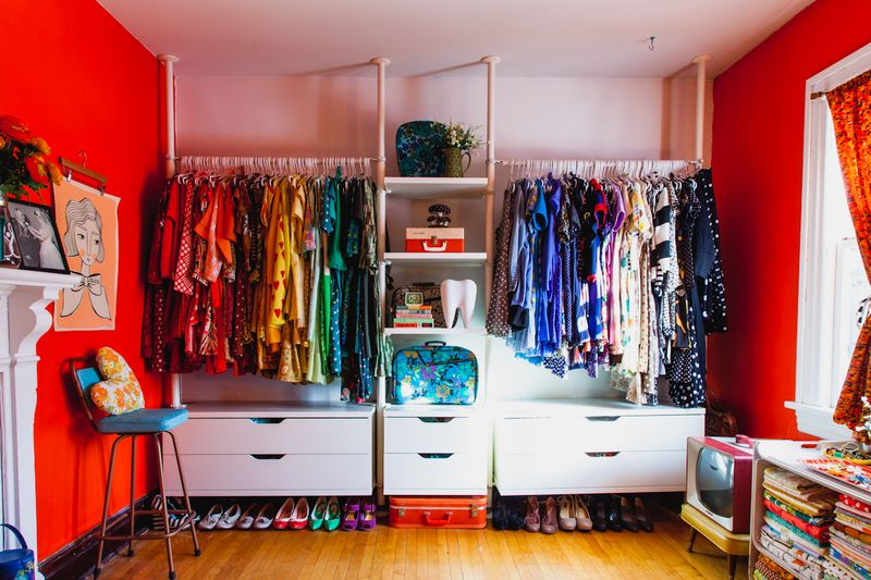 Beautiful rainbow closet