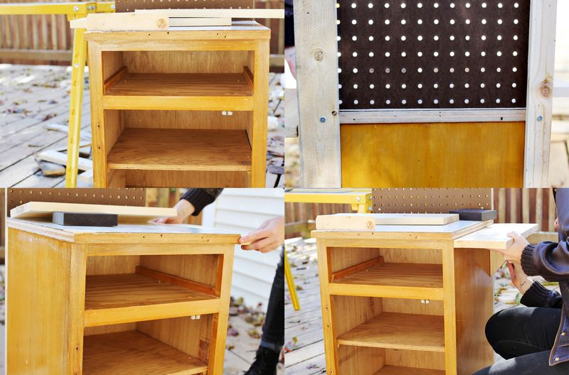 Building a play kitchenette