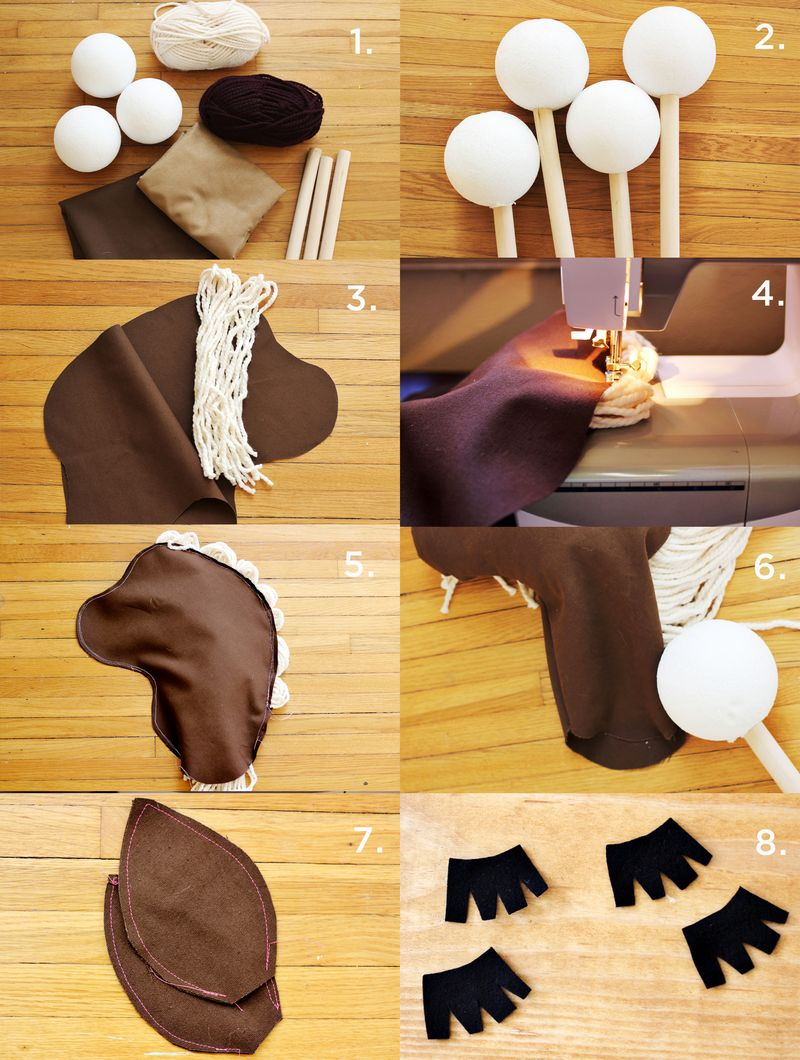 DIY Stick Horse Steps