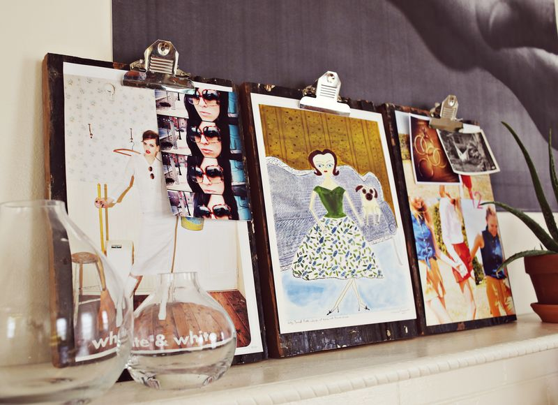 Diy clipboard to display photos in your home