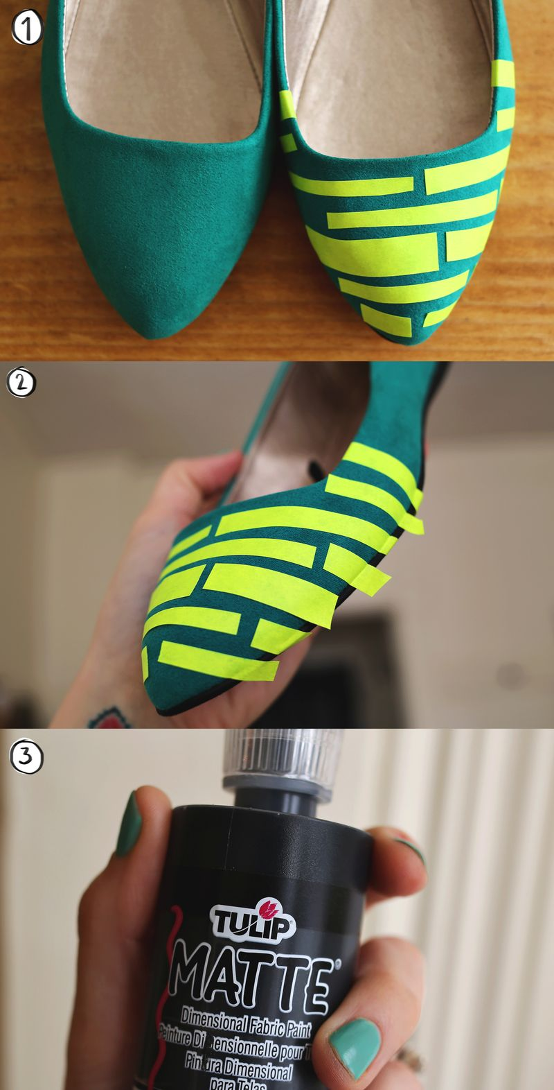 Stripe Shoe DIY