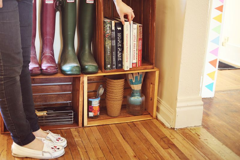 A spot for cookbooks!