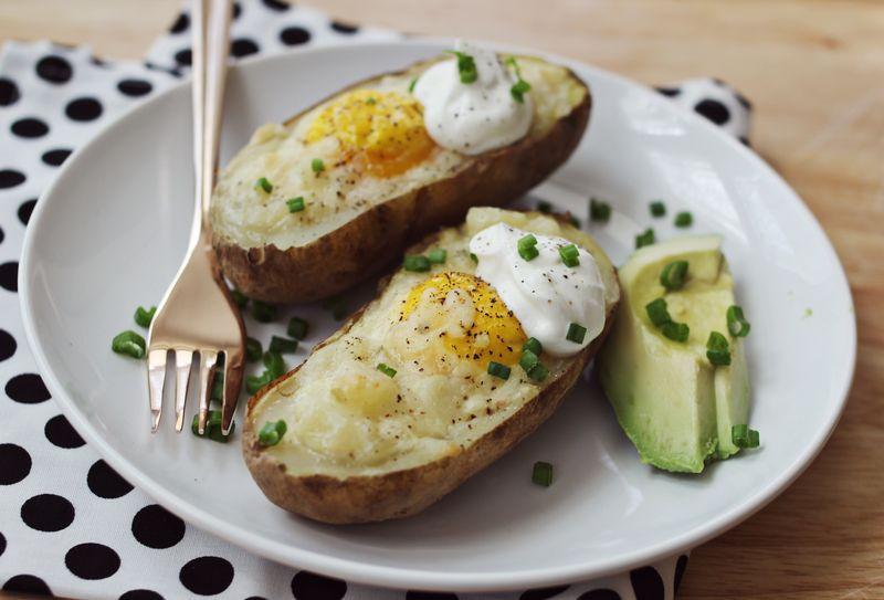 Breakfast twiced baked potatoes
