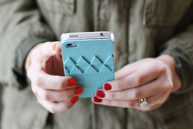 DIY Geometric iPhone Cover