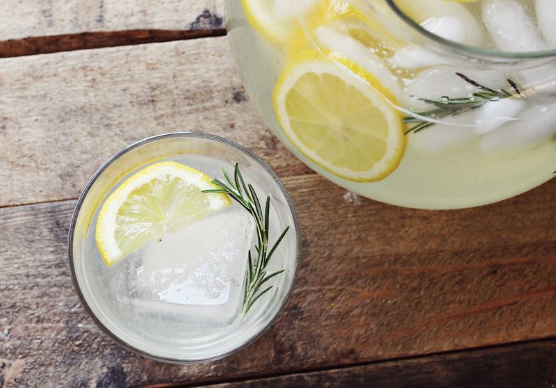 Refreshing rosemary lemonade