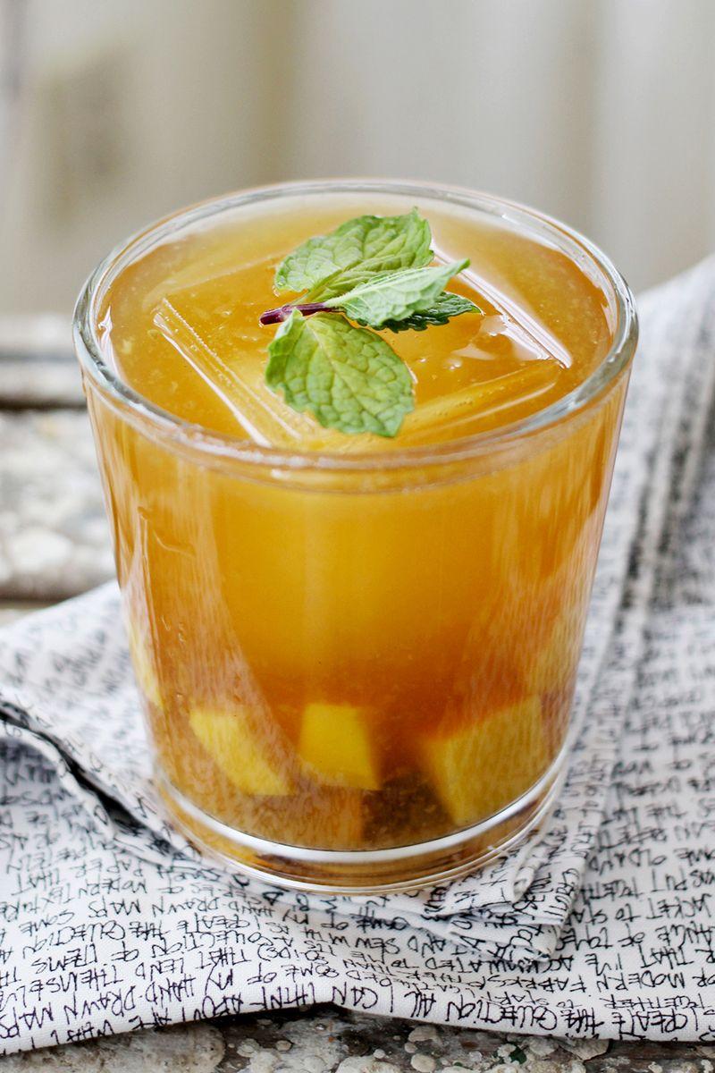 Mango + Plum Sweet Tea Cocktail