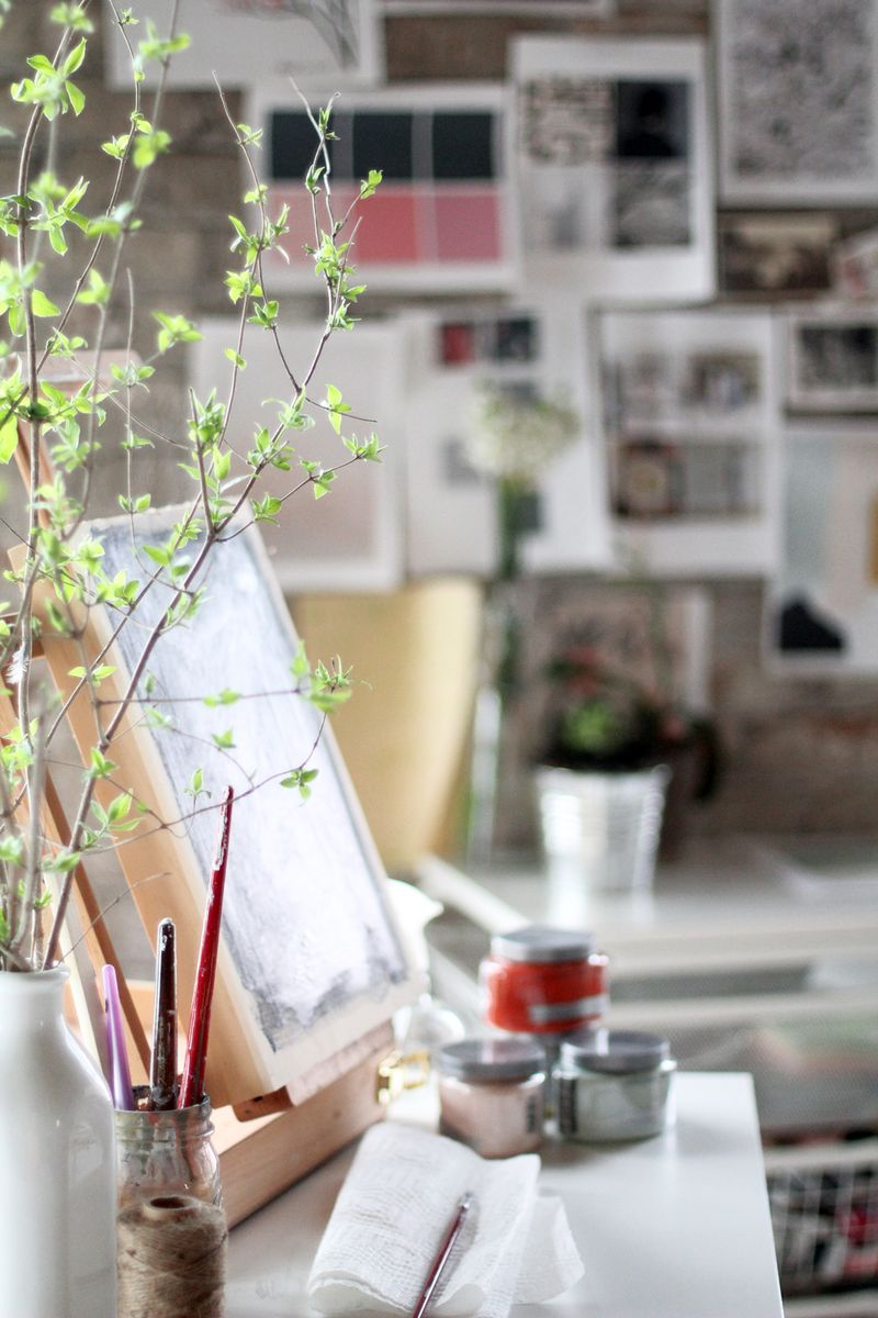 Katie Stratton's beautiful work space