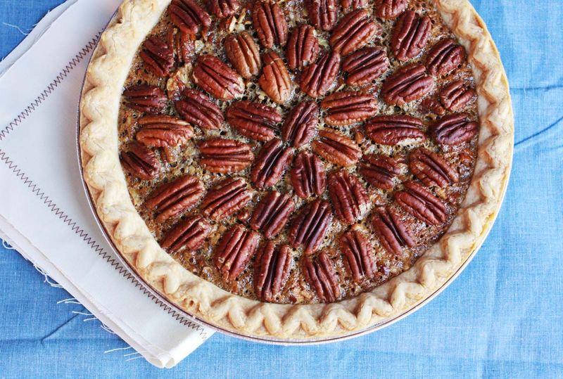 Brownie pecan pie