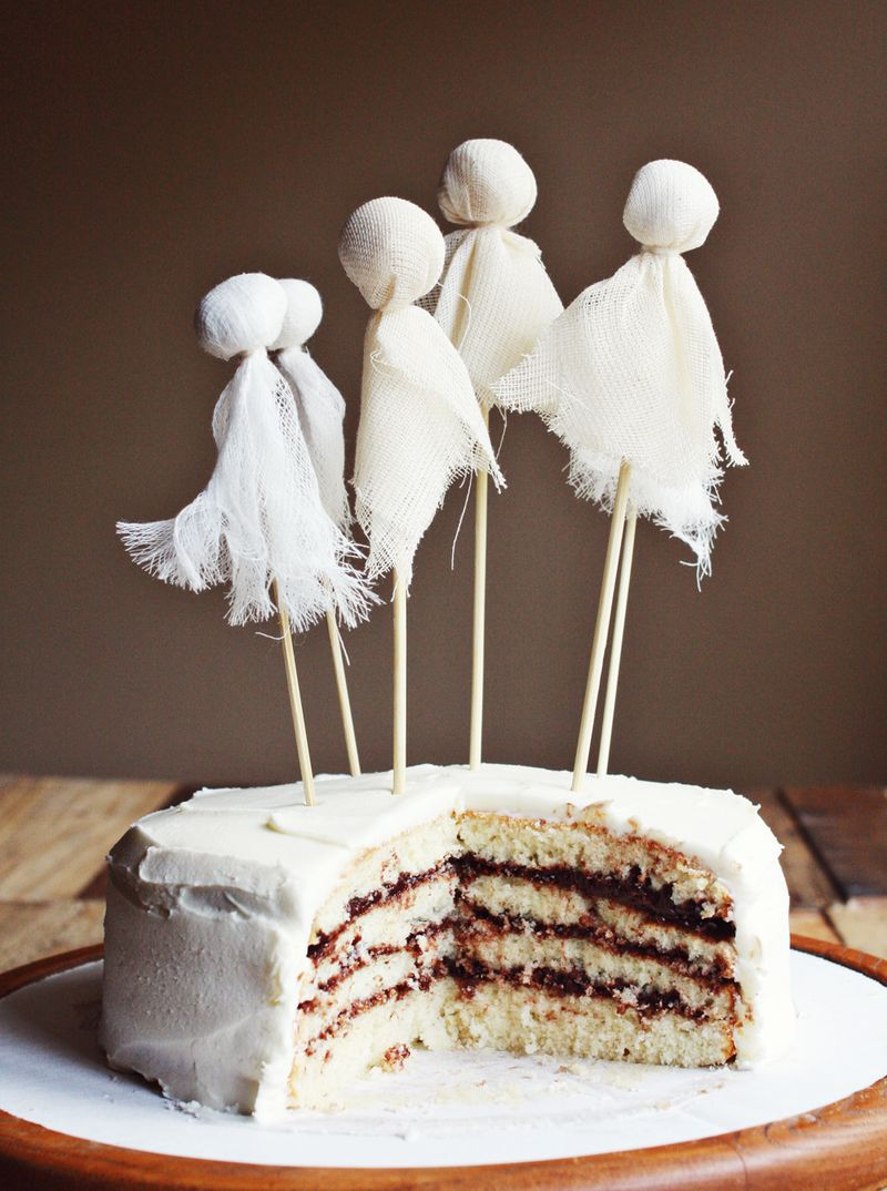 Ghostly Party Cake Tips For Layered Cakes A Beautiful Mess