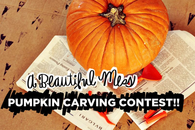 A Beautiful Mess Pumpkin Carving Contest