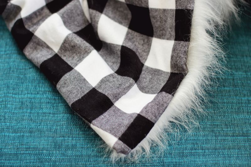 Faux Fur + Flannel Blanket DIY