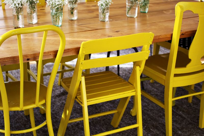 Painted Yellow Chairs