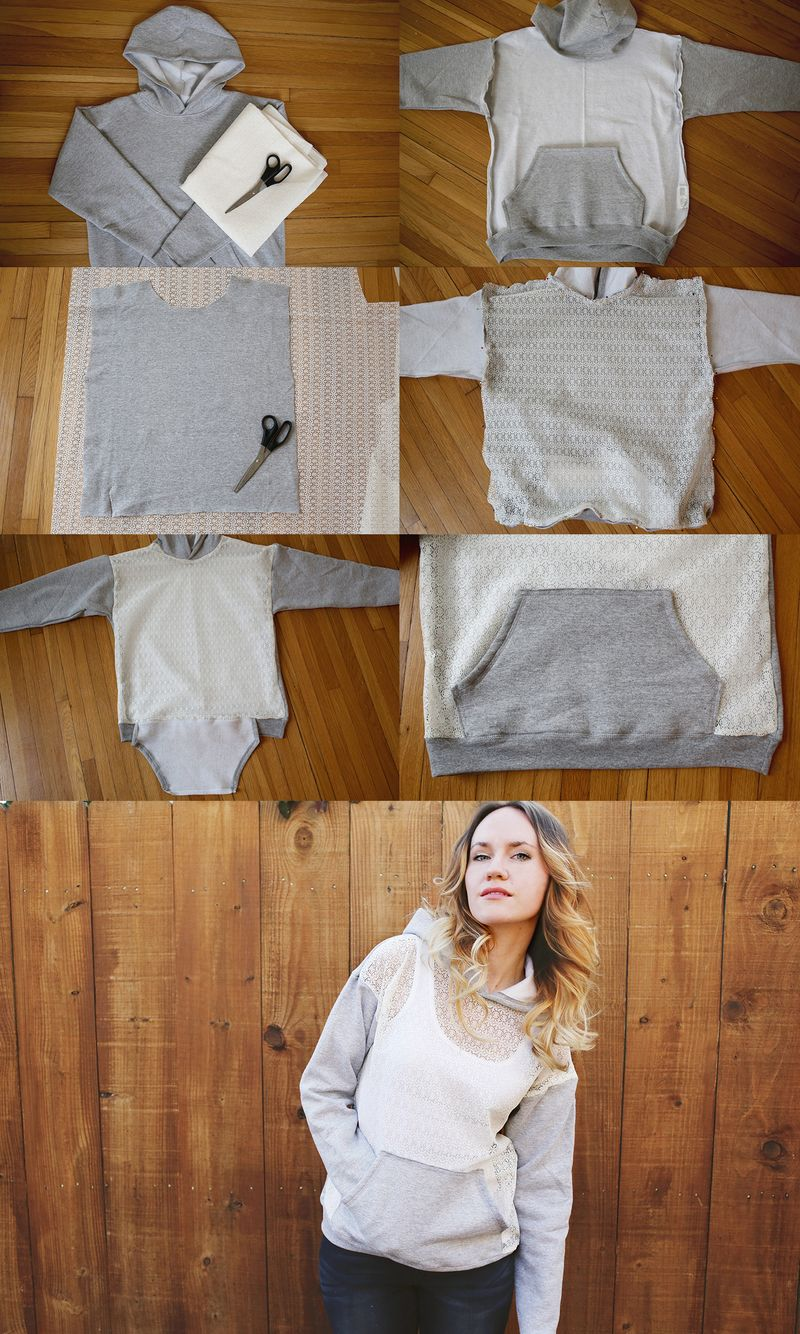 Hoodie lace collage