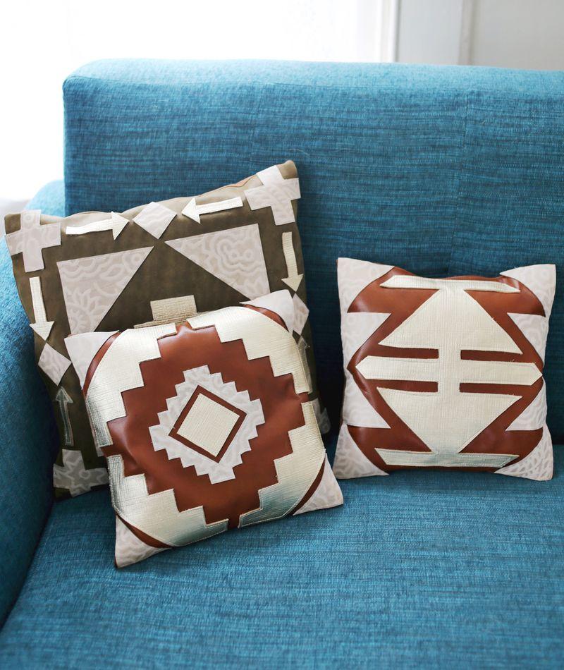 Leather Pillow DIY