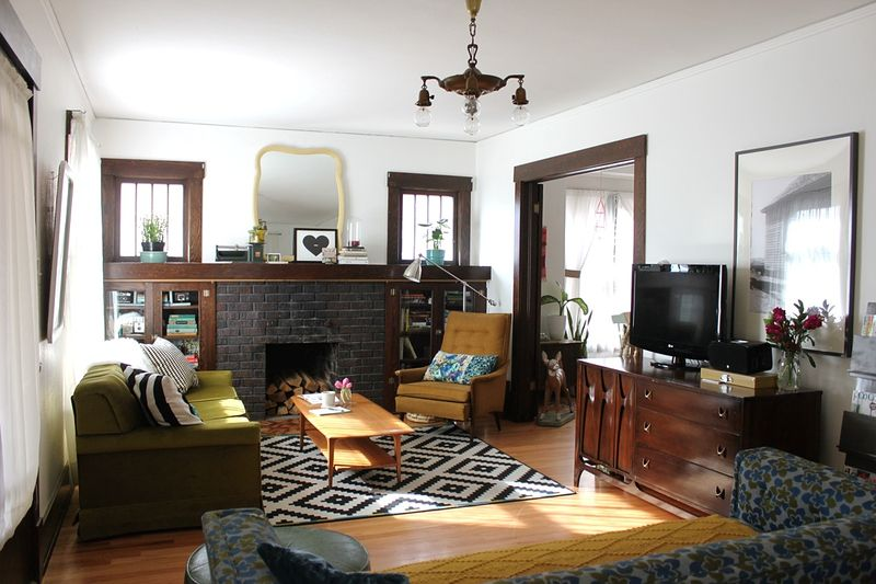 Rachel Denbow's lovely living room via A Beautiful Mess