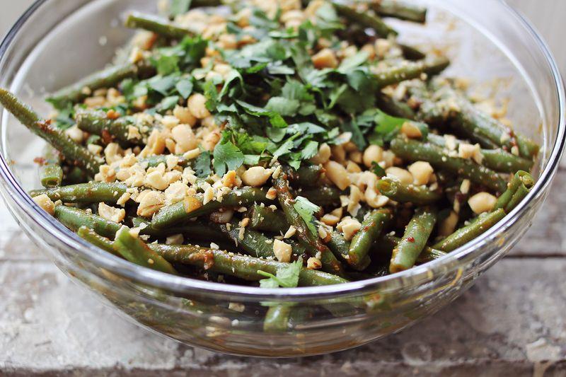 Easy thai style green beans