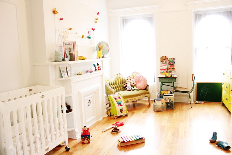 Darling nursery via A Beautiful Mess