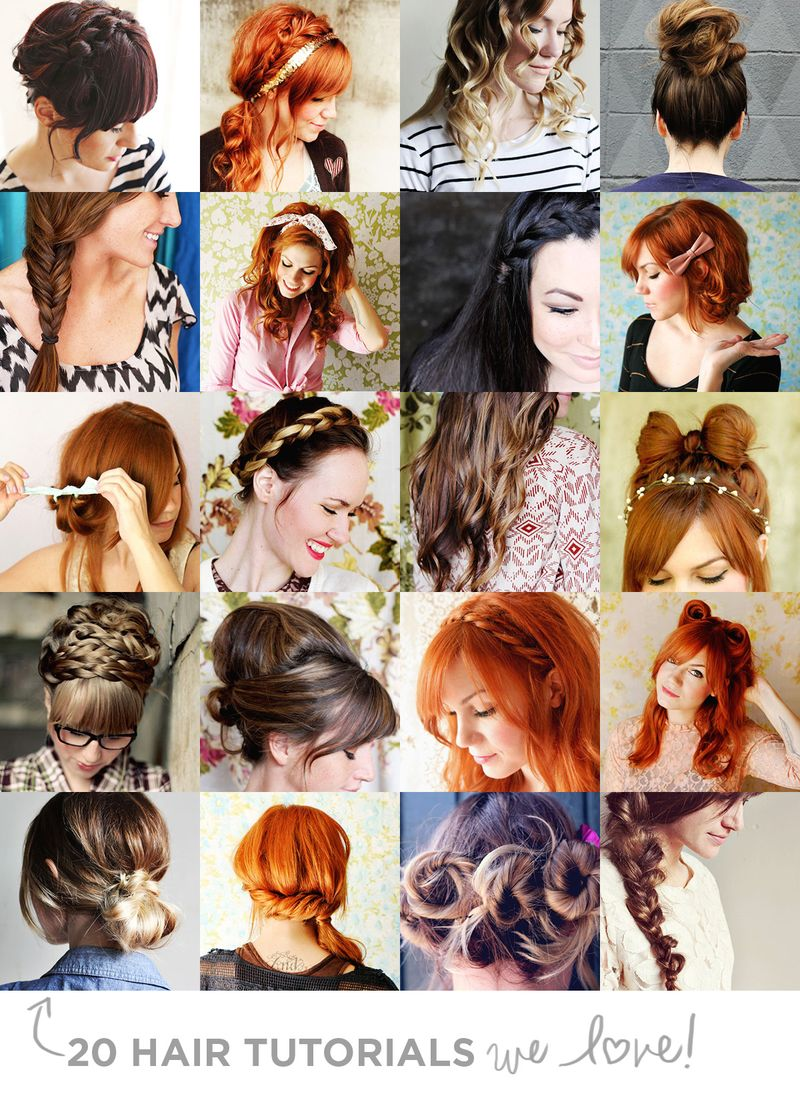 20 Hair Tutorials We Love!