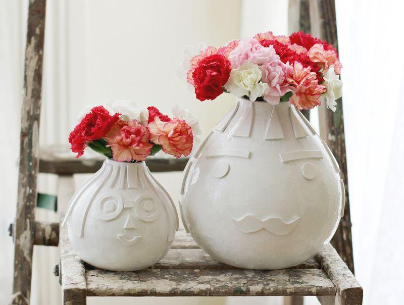 Textured Vase DIY : A Beautiful Mess