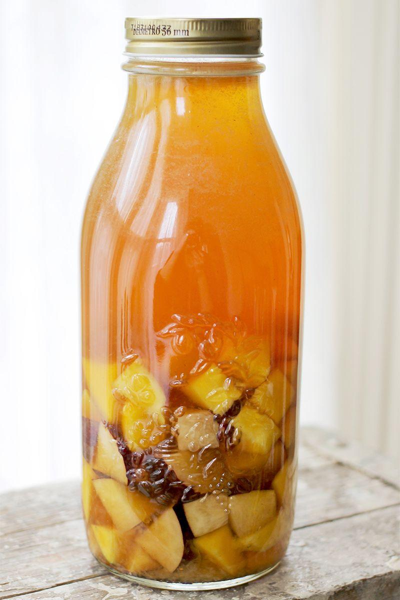 Mango + Plum Sweet Tea Cocktail- so good!