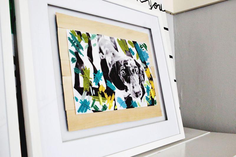 Stitched Photo Art Project www.abeautifulmess.com