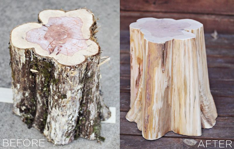 How to make tree stump furniture