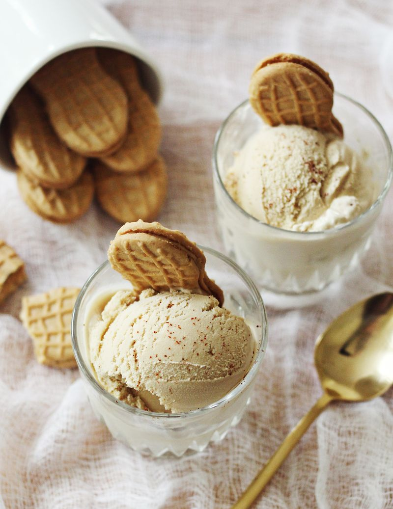 Peanut butter and cayenne ice cream