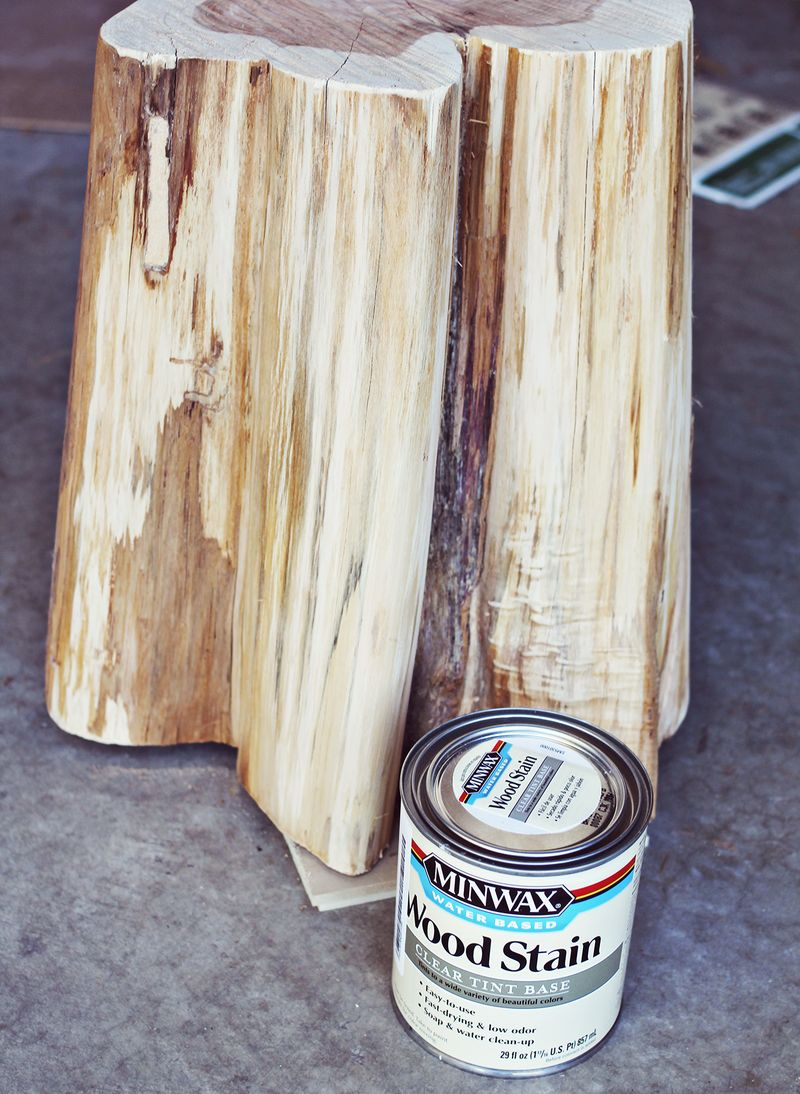 Tinted wood stain