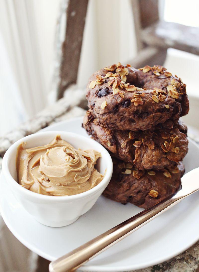 Chocolate granola bagel recipe