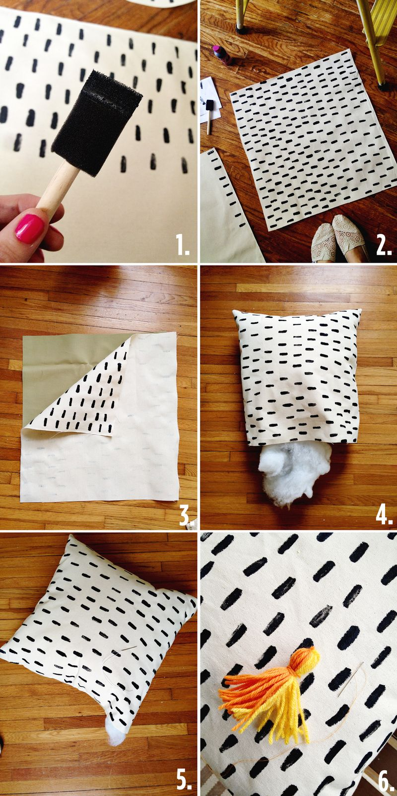 Easy Patterned Pillow Instructions