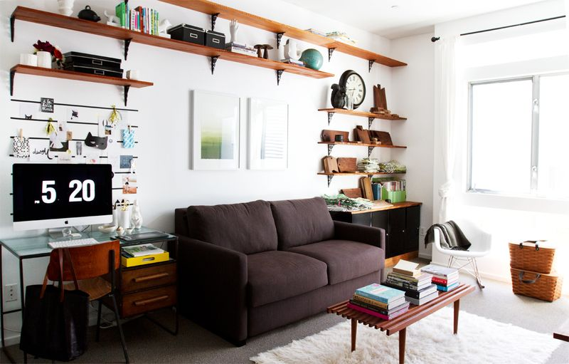 In love with all of the shelving!
