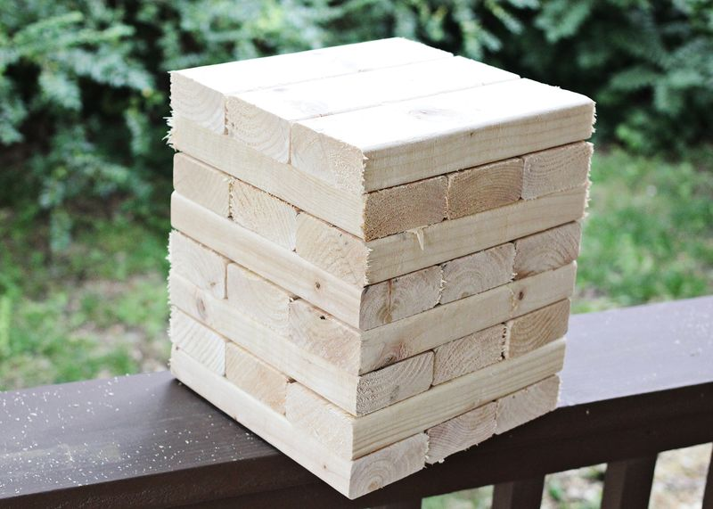How to build your own giant jenga