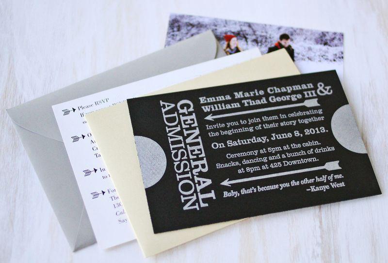 Emma's Wedding Invites + Invite Checklist - A Beautiful Mess