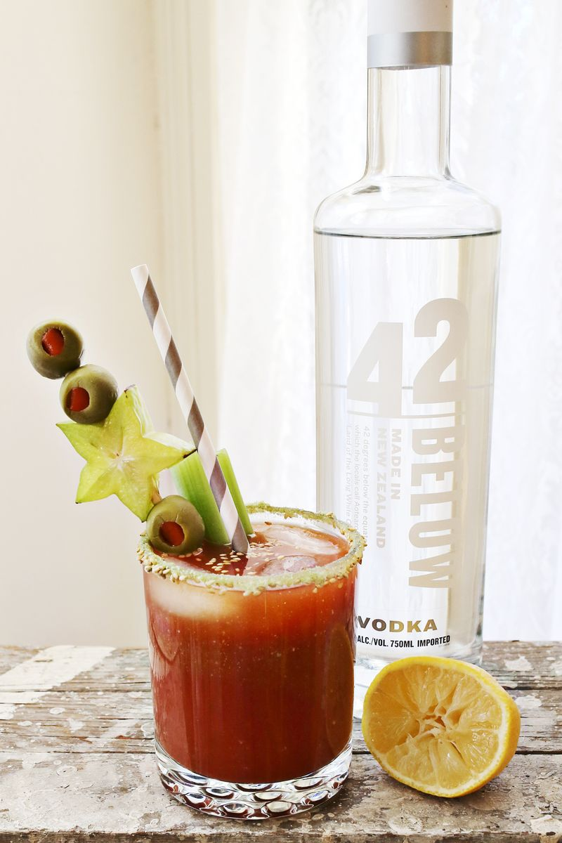 Wasabi bloody mary