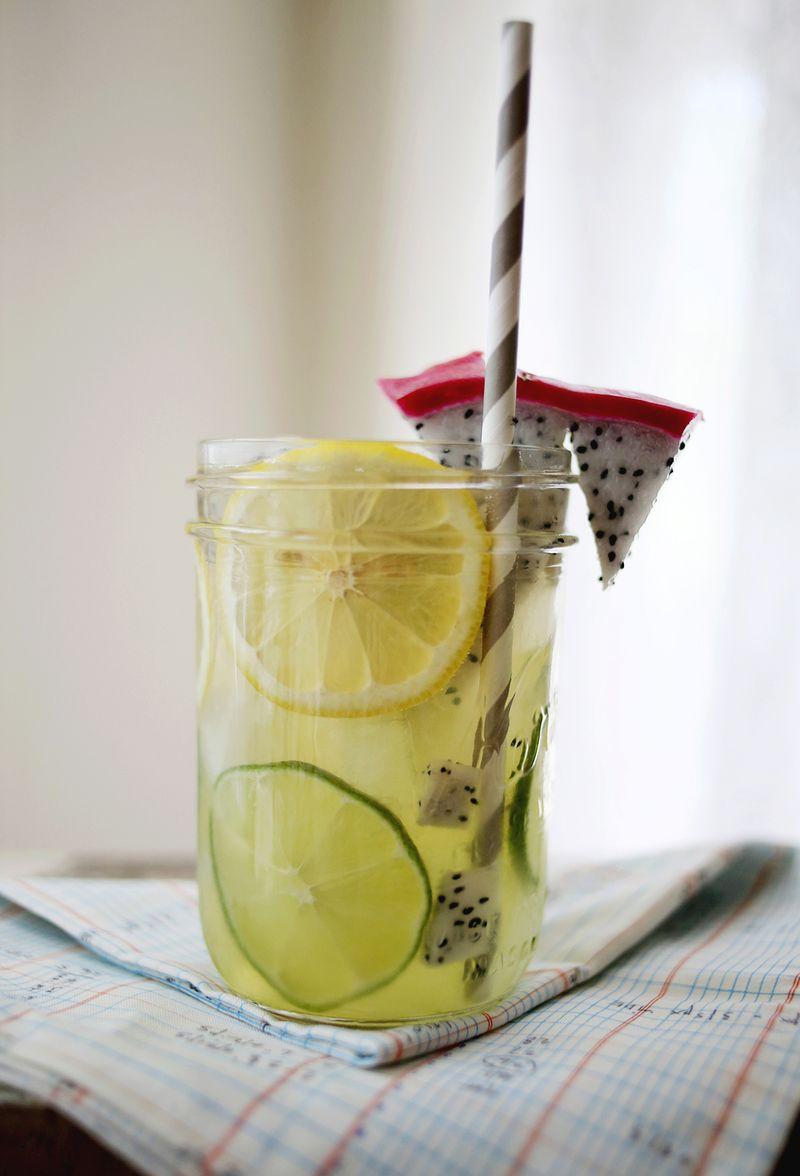 Dragon fruit Limeade Recipe www.abeautifulmess.com