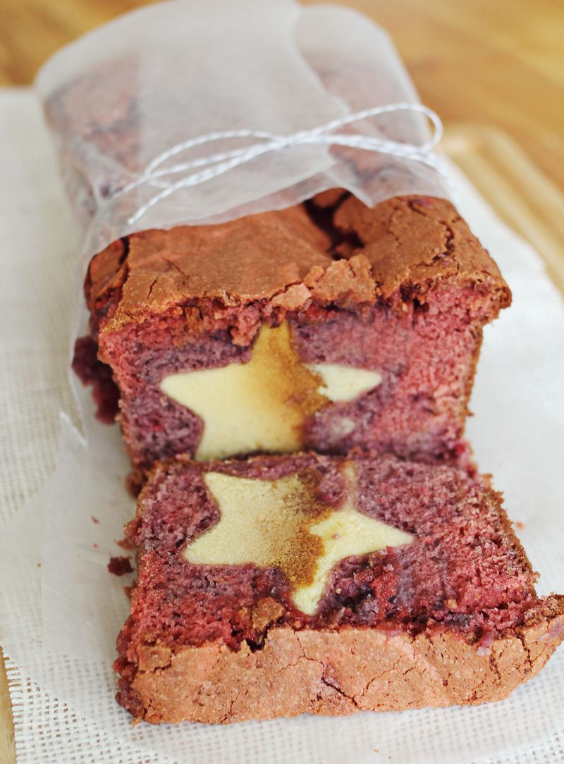 Berry bread with cut outs