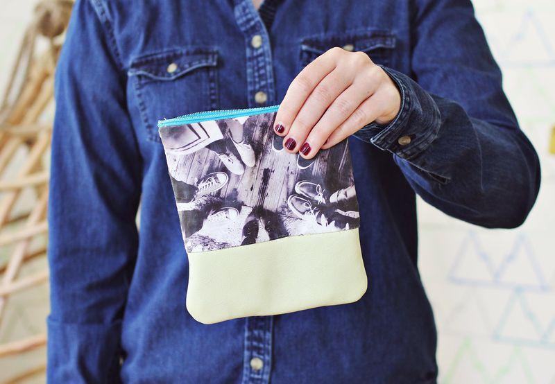 How to sew a mini clutch