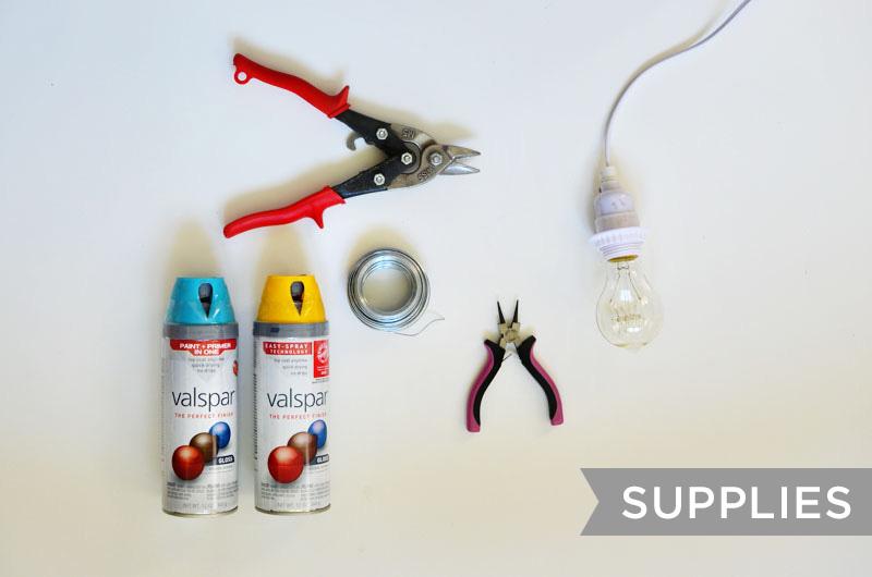 Halo Light Pendant DIY (supplies)