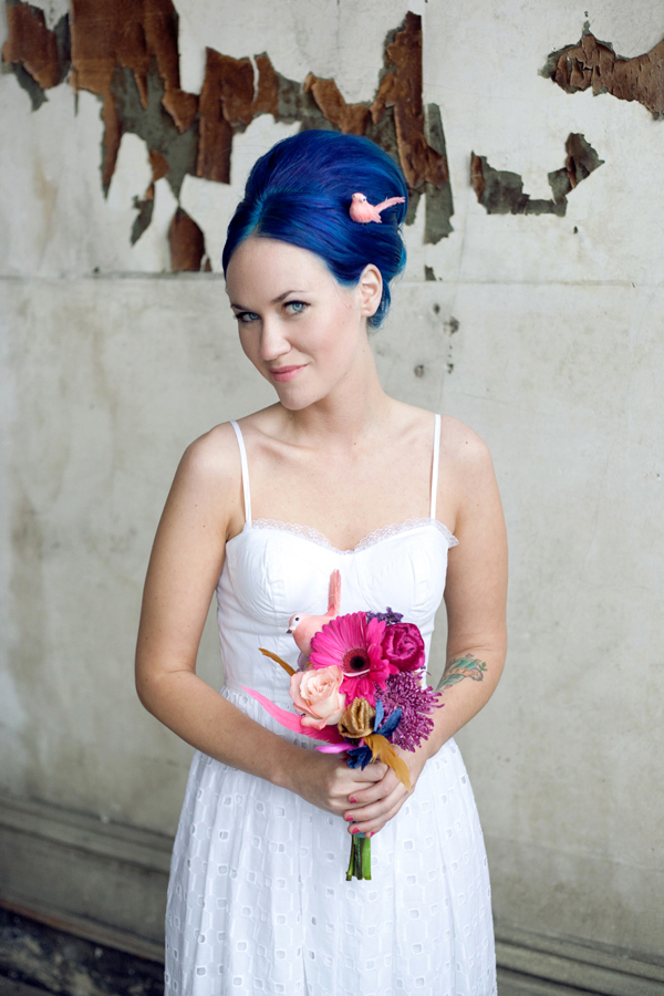 Emma with blue hair!
