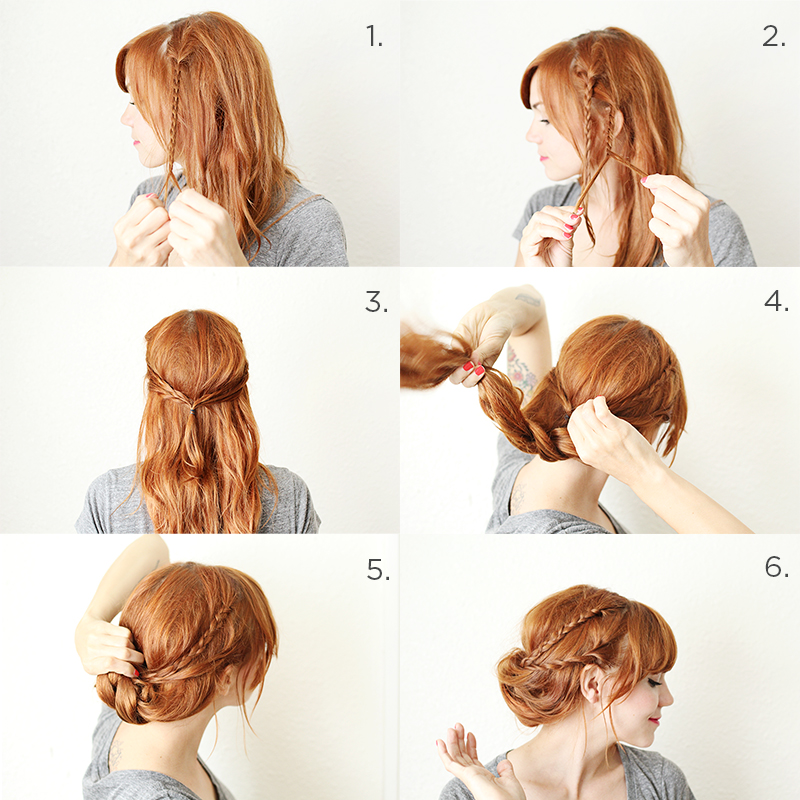 Braided Hair Tuck Steps