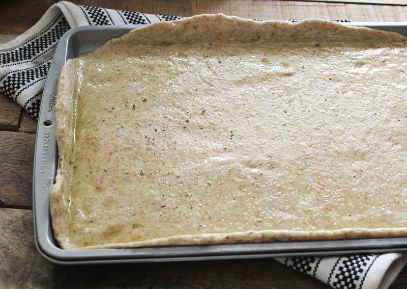 A healthier version of dominos pizza crust