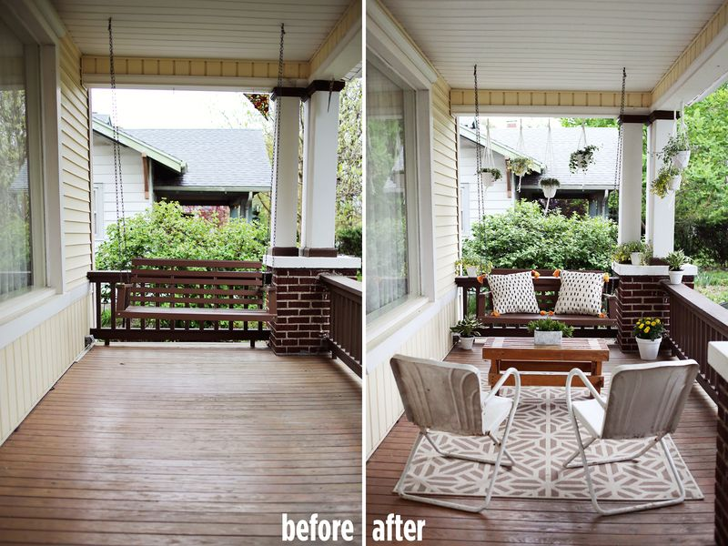 Elsie S Front Porch Before After A Beautiful Mess