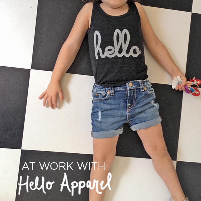 At Work With Hello Apparel via SpG